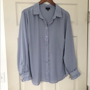 Who What Wear 1X Button Front career blouse